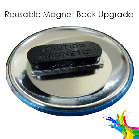 custom button badge magnet back