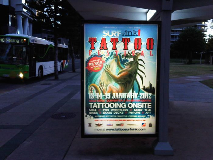 Backlit Lightbox - Bus Shelter