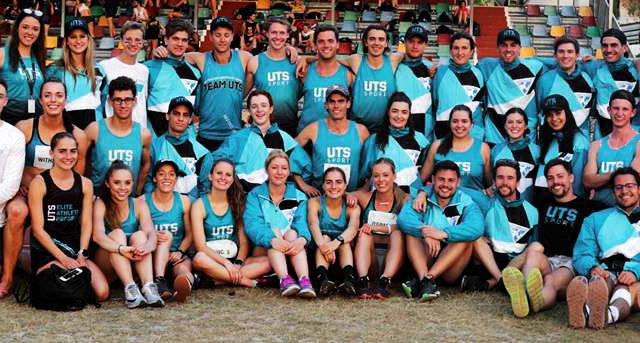 Sports team wearing dye sublimated shirts